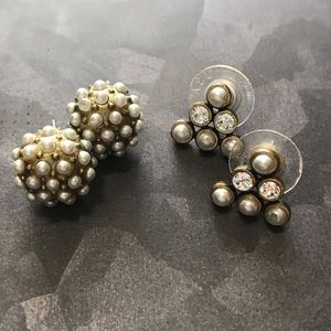 Silpada KR brand pearl and brass earrings